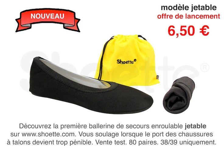 Besoin d'une paire de ballerines confortables et jetables pour l'avion? en fin de soirée?  http://www.shoette.com/collections/toutes-les-ballerines-shoette/products/super-stretch-jetable