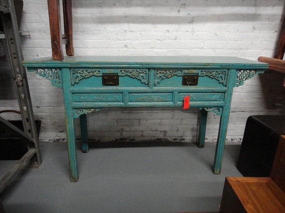 punch of color for entry: Inspiration Consoles, Etsy Luv, Console Table, Consoles Tables, Colors, The Angel, Antiqueasian Inspiration, Antiques