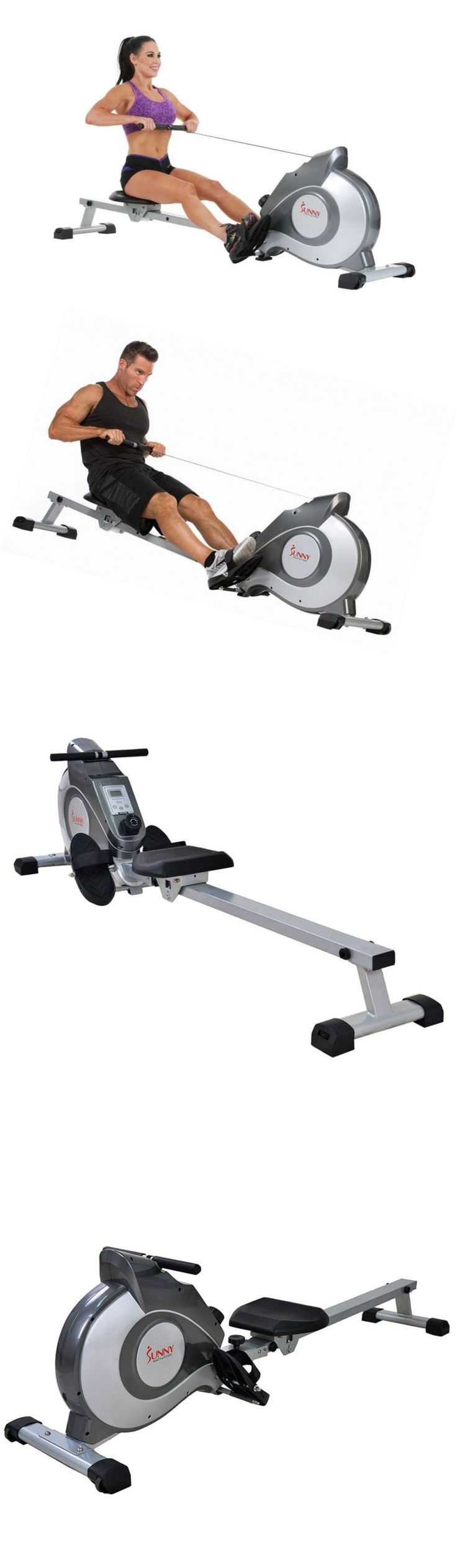 Rowing Machines 28060: New Sunny Health And Fitness Magnetic Rowing Machine Cardio Training Gym Equipment BUY IT NOW ONLY: $250.99