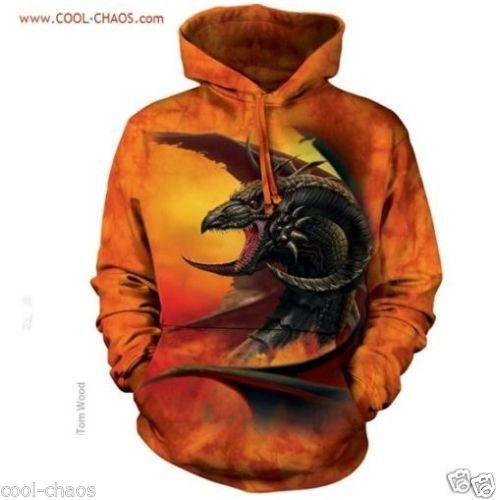 Scourge Gothic Dragon Hoodie  / Tie Dye Hoodie