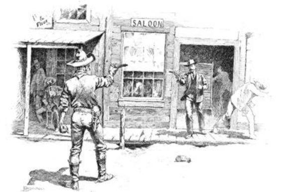 """The Killing of Warren Earp"" - by Frederic Remington.:"