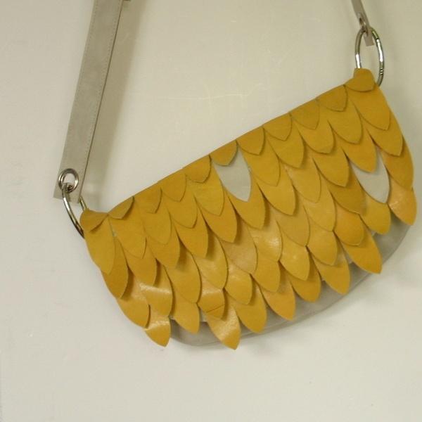 Gele vintage tas van freebellesvoortassen!