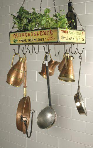 Vintage French Hanging Rack Pots Amp Pans Holder Amp Herb