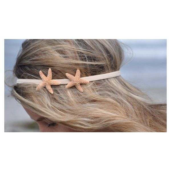 Starfish Headband with TWO Starfish Hippie by ShepherdoftheSea ❤ liked on Polyvore featuring accessories, hair accessories, hair, people, pictures, jewelry, hippie hair accessories, head wrap headbands, hippie headwrap and hippy headband
