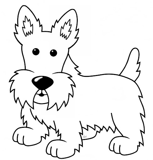 scottish terrier coloring pages - photo#12
