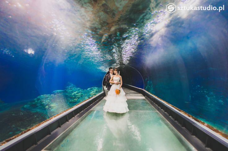 Podwodna sesja ślubna / Underwater wedding session - www.sztukastudio.pl fotografia ślubna, film, design