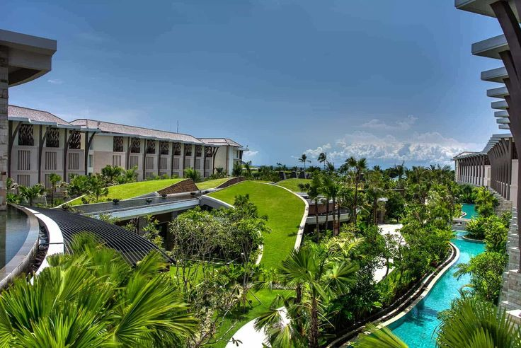 Bali Hotel Photography - Sofitel Nusa Dua - garden, pool and ocean views from the lobby