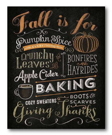 Another great find on #zulily! 'Fall is For' Canvas #zulilyfinds