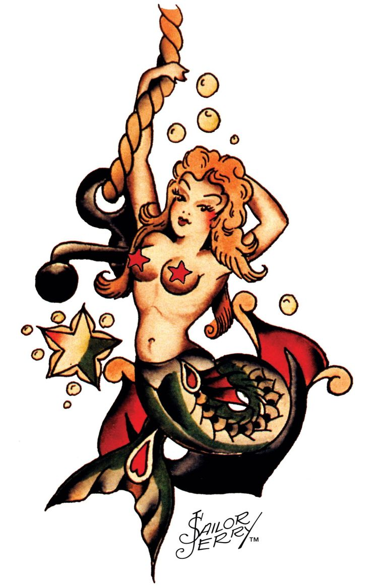 Sailor Jerry Mermaid Tattoo Designs