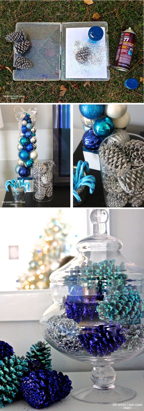 22 Awesome Glitter DIYs for Holiday Decoration