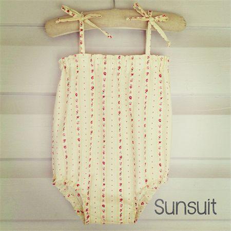 Floral Sunsuit | Shelli Morse Design | madeit.com.au