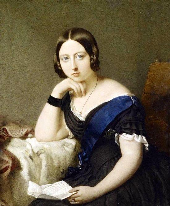 Queen Victoria (1819-1901) by Robert Thorburn in 1844.