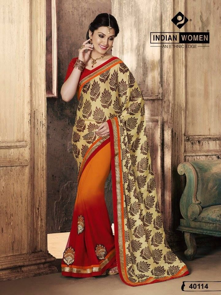 """""""Sarees for 2499/-"""" Pls call/whatsapp +919600639563. Code: saf eornred Price: 2299/- Material: Georgette saree with designer blouse. For booking and further details pls call or whatsapp us at +919600639563. Happy shopping y'all :) Be Beautiful :)"""
