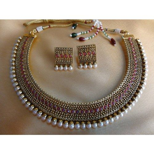 Intricate work choker... Perfect for silk sarees!