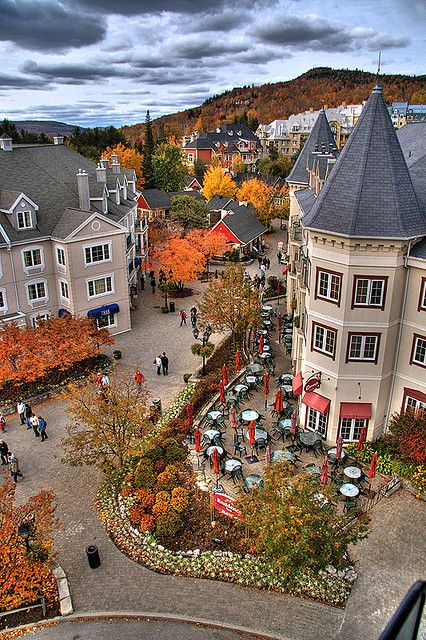 Another beautiful autumn day in Tremblant, Quebec, Canada