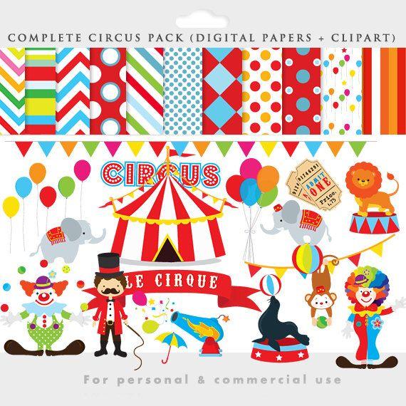 Circo clipart - ClipArt di circo, Leone, elefanti, Pagliacci, domatore di leoni, sigillo, palle, circo documenti digitali per uso personale e commerciale di WinchesterLambourne su Etsy https://www.etsy.com/it/listing/176216897/circo-clipart-clipart-di-circo-leone