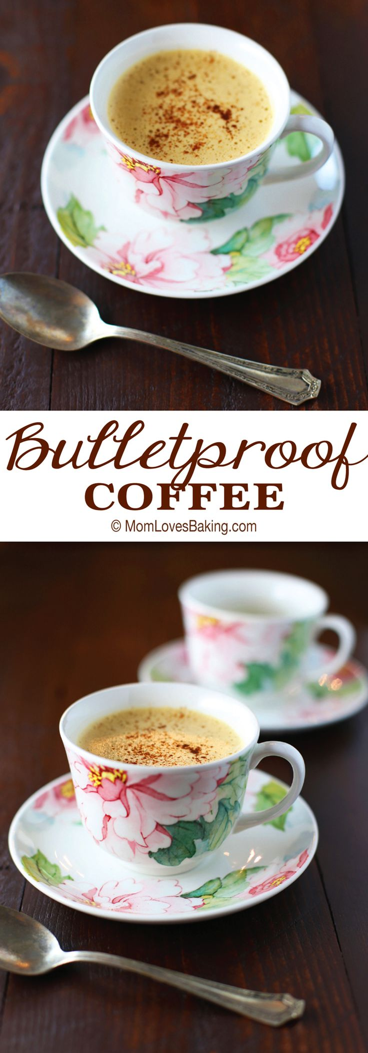 Have you ever heard of Bulletproof Coffee? It's a delicious, paleo friendly drink that some say can help you lose weight. I love it because it's just 3 ingredients and so tasty! Get the recipe on MomLovesBaking.com