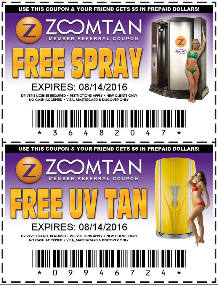 Expired Zoom Tan coupons