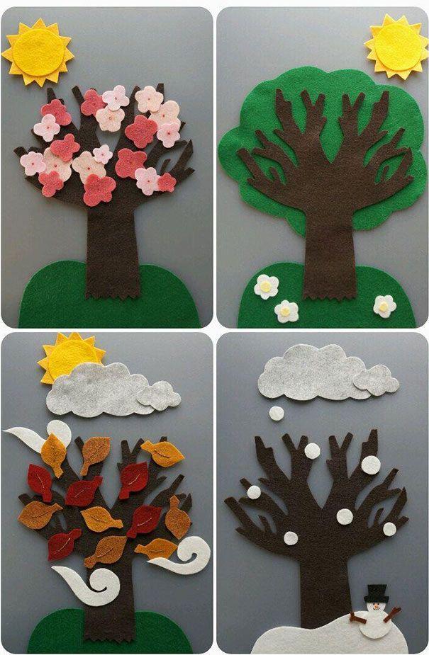 وسائل تعليمية للعلوم لرياض الاطفال من خامات البيئة سهلة بالعربي نتعلم Preschool Circle Time Flannel Board Stories Felt Crafts