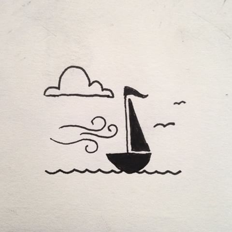 Best 25 sailboat drawing ideas on pinterest boat for Ink drawings easy