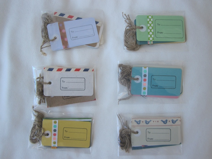 Pack of 5 card gift tags