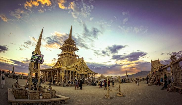 #burningman, Sunrise at the Temple at Burning Man: Temple, Sunrises, Burningman
