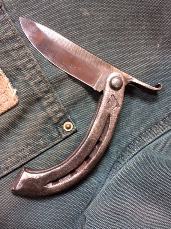 Cowboy Folding Knife // Blacksmith's Folding Knife // | Etsy | Friction folder, Knife making, Folding knives