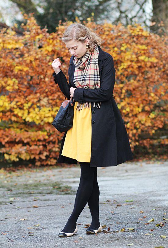 Outfitpost: Gelb und Schwarz im Spätherbst | Lady Blog