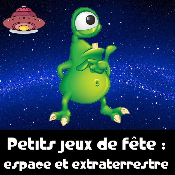 Des petits jeux sur le thème de l'espace et des extraterrestres !