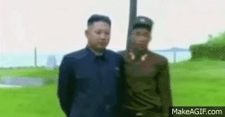 Bravest man in North Korea...!