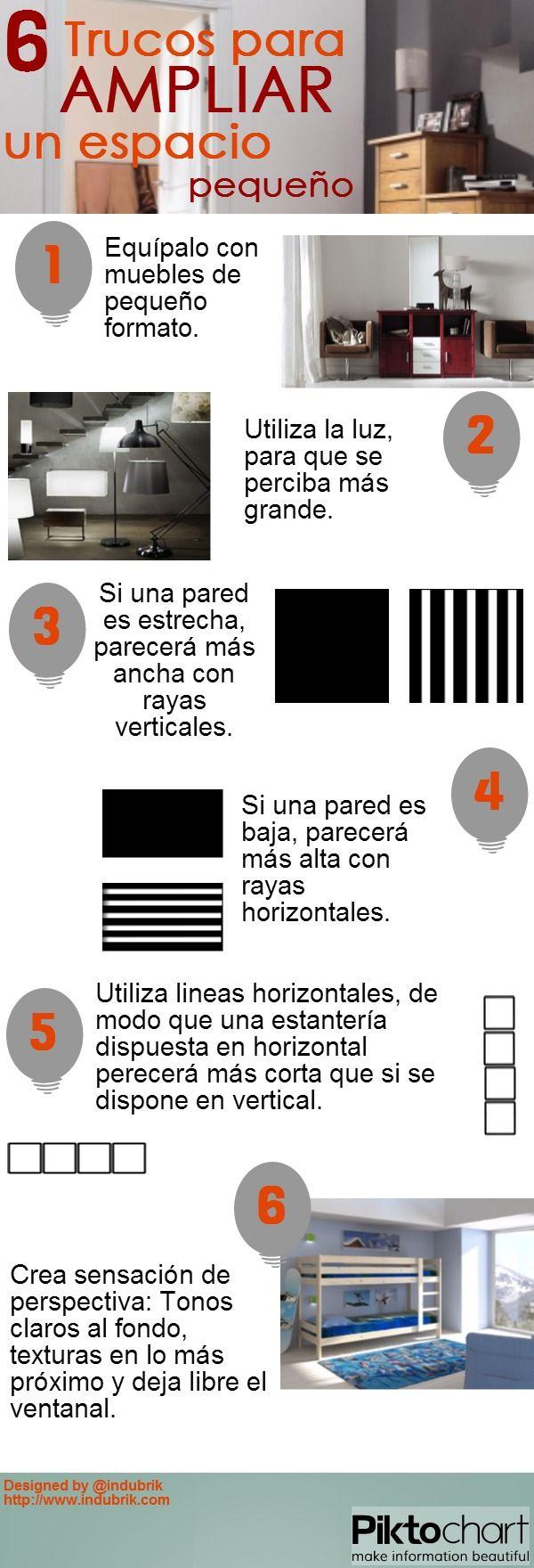 """6 trucos para """"ampliar"""" un espacio pequeño"""