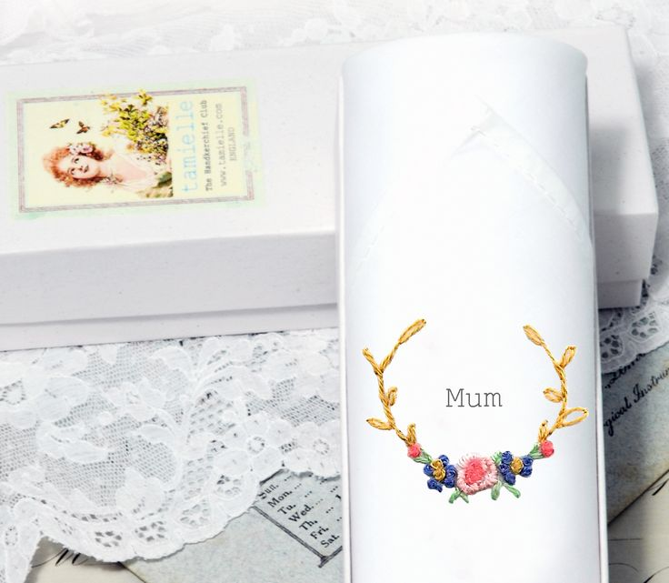 The perfect gift for Mother! A white cotton ladies handkerchief is hand embroidered and packed in a gift box. The word Mum is printed on the hankie. Made with LOVE by our Bulgarian ladies.