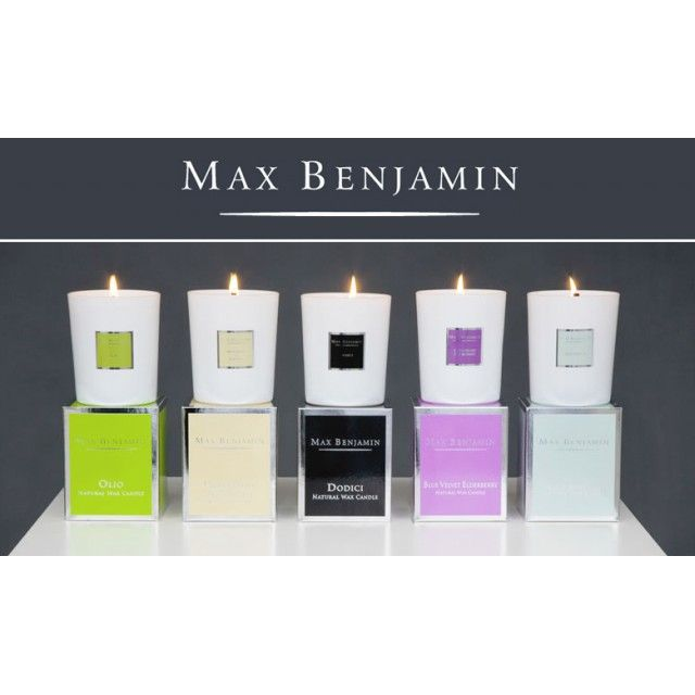 Max Benjamin Scented Wax Candle, 190g in Coffee and Cardamom