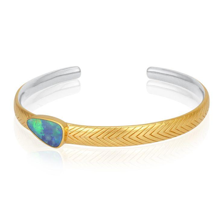 TEMPLE OF THE SUN JEWELLERY BYRON BAY - Opal Cuff Gold