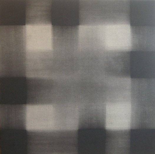 Richard Allen  1933-1999  Untitled Charcoal Painting, c1979 charcoal and cellulose acetate on canvas