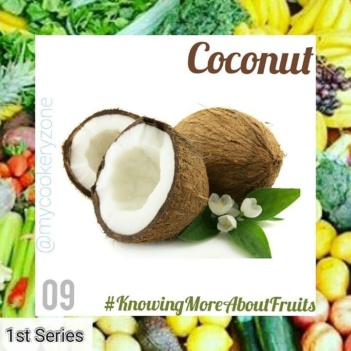 Knowing More About Fruits. (Coconut)  English Name: Coconut Botanical Name: Cocos nucifers Yoruba Name: Àgbón Hausa Name: Kuwapa Igbo Name: Akubeeke  DESCRIPTION: A large nut of a tropical tree called the coconut palm. It grows inside a hard shell that contains a soft white substance that can be eaten and juice that can be drunk. The fruit of the coconut palm is harvested throughout the tropical world for food oil and coir. It is also a member of the (Drupe family). (To read further on…