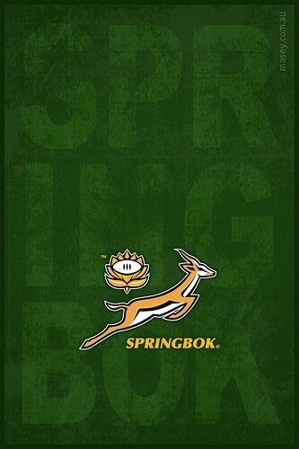 I love the springbok rugby team!
