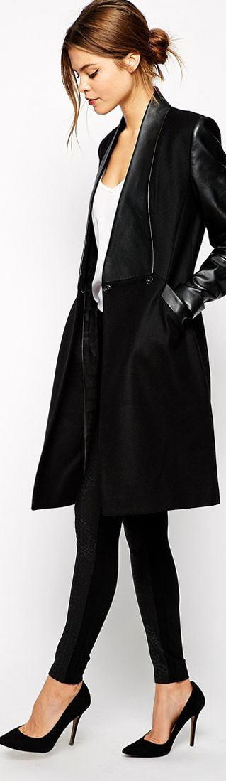 Ted Baker long black coat