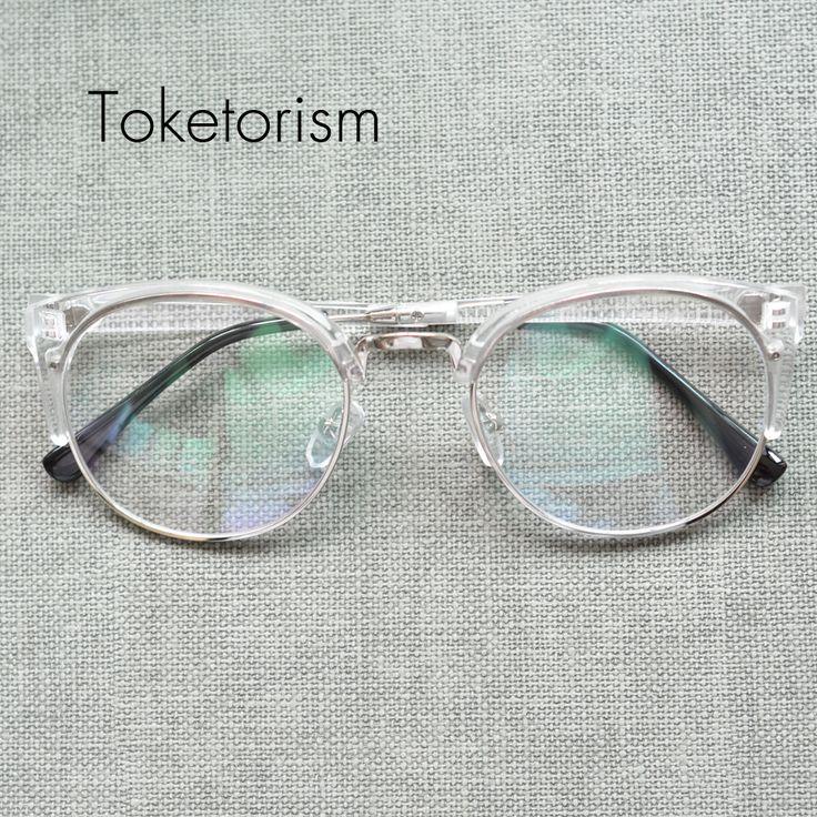 Semi rimless oversize vintage round spectacle frames men monturas de gafas women 5292