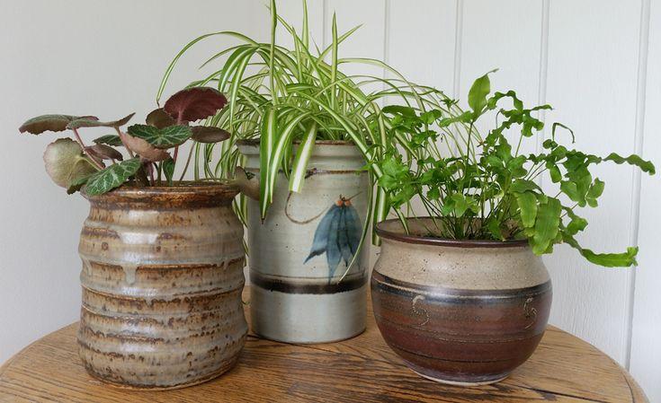 Upcycled Ceramic Jars to Plant Pots