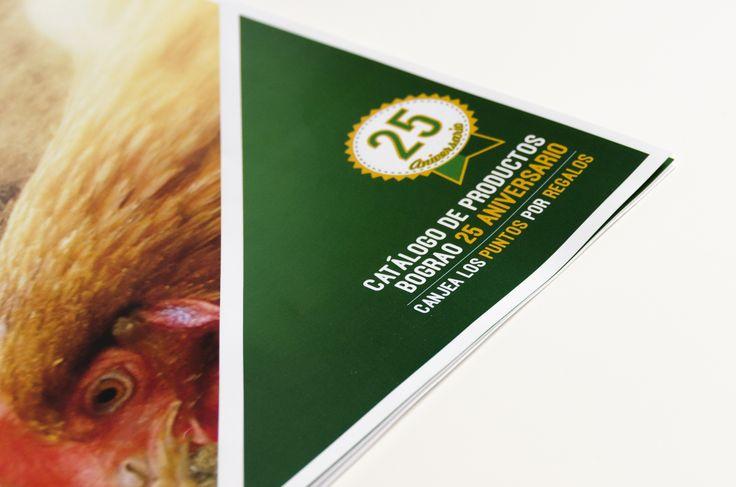 Catálogo de producto que hemos realizado para la marca de piensos Bograo S.L. con motivo de su 25 aniversario #catalogo #design #maquetación #diseño