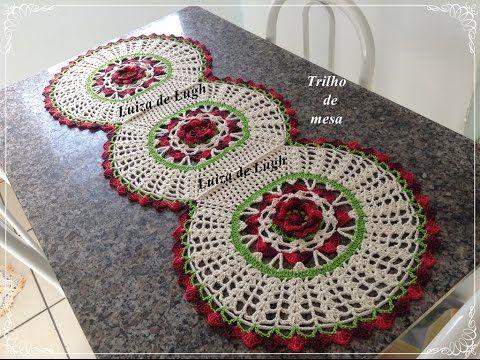 Trilho de mesa em crochê - passo a passo # Luiza de Lugh - YouTube