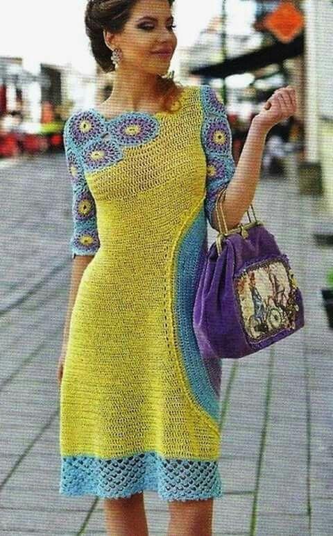 Interesting way to crochet a dress