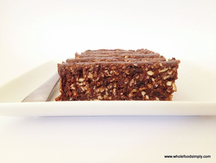 Quick, easy and delicious brownie bars. Free from gluten, grains, dairy, nuts, egg and refined sugar.