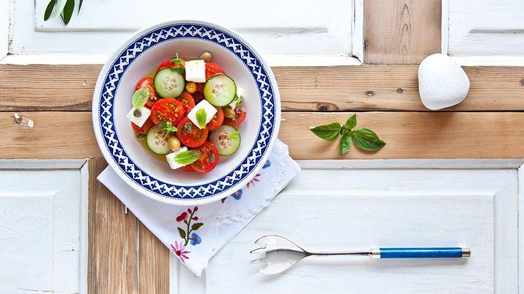 Pelasgaea   Greek Salad With Feta Cheese And Organic Olive Oil