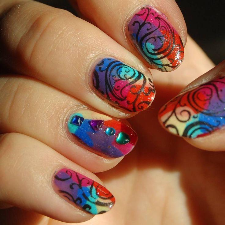 Zobacz na Instagramie zdjęcie użytkownika @paznokcie_jgd • Polubienia: 54  Rainbow nails