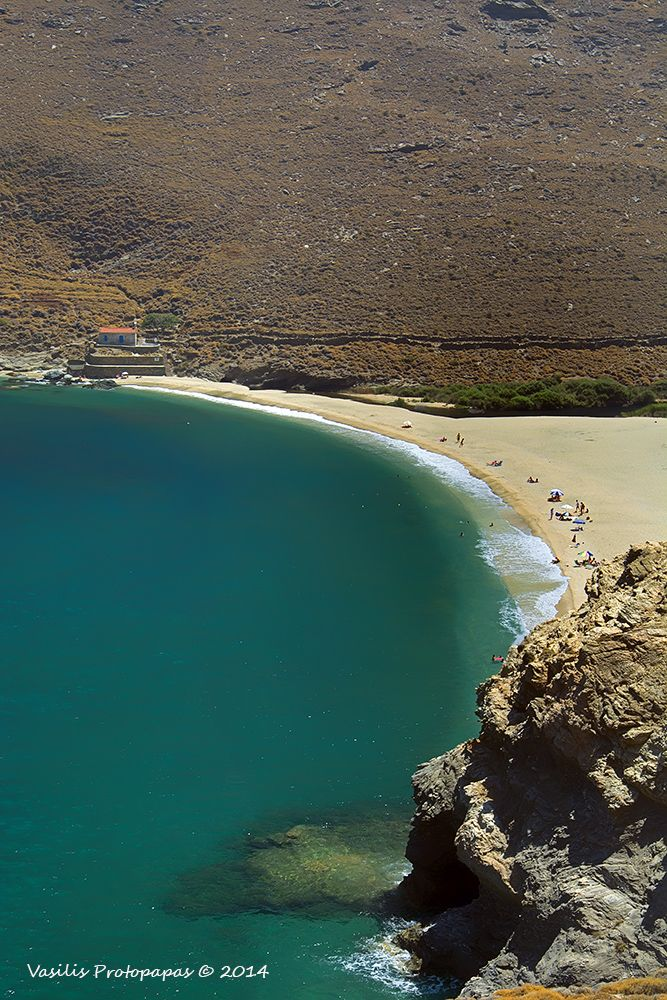 Achla Beach in Andros Island, Kyklades, South Aegean_ Greece