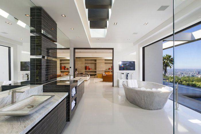 930 best images about salle de bain on pinterest coins With carrelage adhesif salle de bain avec eclairage led suspendu