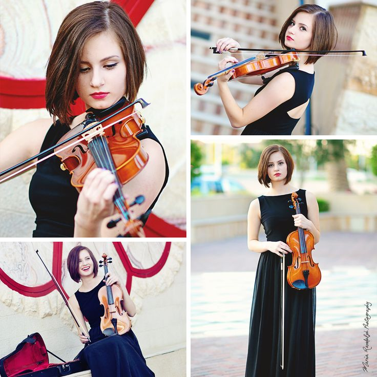 Senior Portrait with a violin. Maria Randolph Photography.