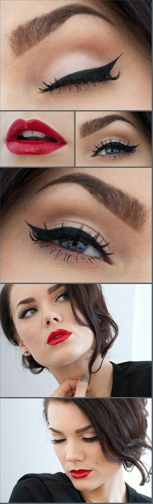 Bridal Makeup: Classic Cat Eyeliner - Click image to find more makeup posts